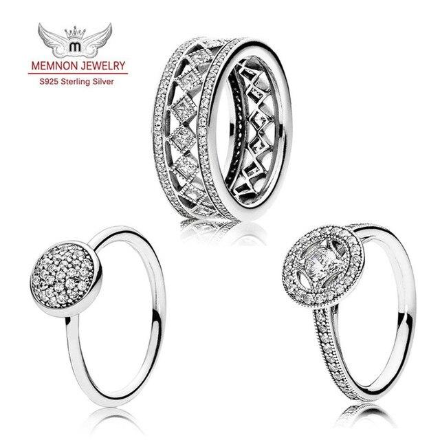 2016 Осенняя Коллекция стерлингового серебра 925 кольца для женщин Старинные Очарование серебряные Кольца anillos штраф Мемнона ювелирных изделий SET104