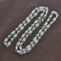 Ледяные ювелирные изделия, хип хоп ожерелье, пуля цепь, серебро 925, чистое серебро 925 цепь, мужские ювелирные изделия