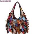 Pájaros de vuelo de cuero genuino bolsos de marcas de lujo de las mujeres de asas LM4238fb Panelled mujeres bolso de los bolsos bolsas de moda europea