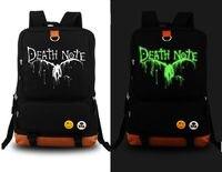 Death Note Anime School Shoulder Bag Luminous backpack black Bag New