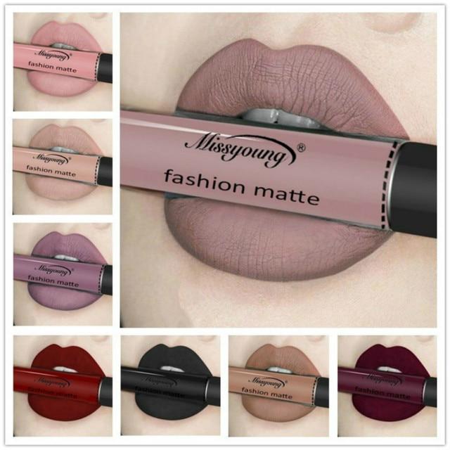 18 Color Liquid Lipstick Without Matte Makeup Lip Gloss Pencil Waterproof Long Lasting Lip Stick Beauty Matte Liner Pen Lipstick
