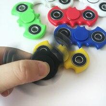 6 цвет Новый Обучение & Образование Игрушка bat stylesTri-Непоседа Spinner spinner Пластиковые EDC Руки Счетчик Для Аутизма Непоседа игрушки