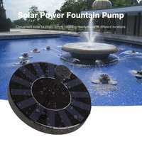 DC 4.5 10V Solar Water Panel Power Fountain Pump Kit with 4 Nozzles for Pool Garden Pond Watering Round Water Fountain Pump