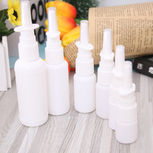 White Empty Plastic Nose Spray Bottle Nasal Pump Refillable Spray Bottles Design For Medical Packaging Portable Bottles Hot