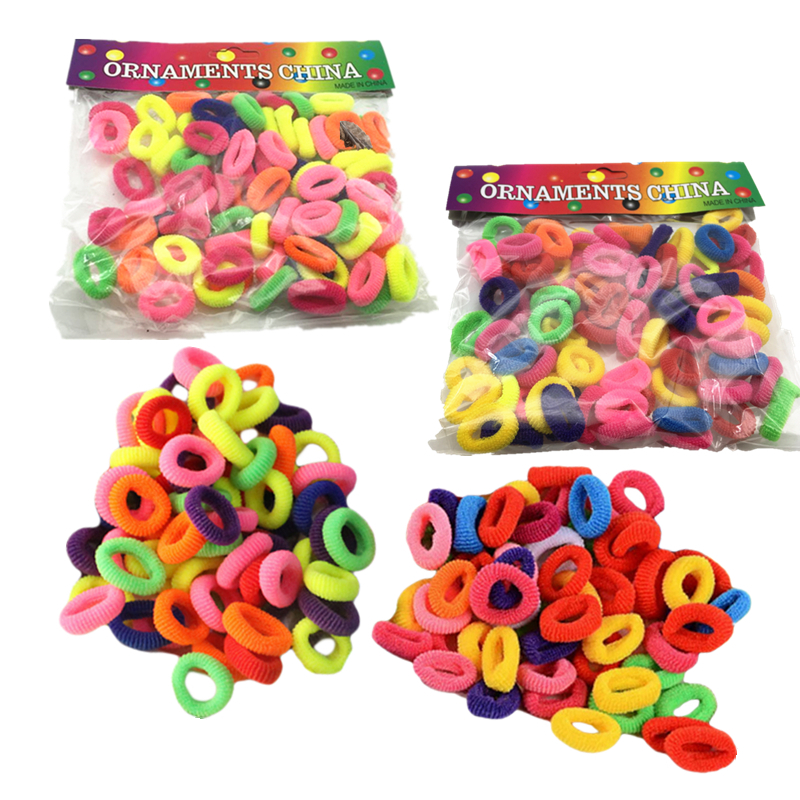 Girls' Elastic Hair Band 3 Size(100/200/400Pcs) Hair Accessories Rubber Band Holders Headdress Tie Gum Scrunchy Random Color