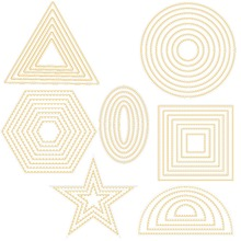 ZhuoAng Geometry Metal Cutting Dies Stencil for DIY Scrapbooking Photo Album Card Making Decoration Supply
