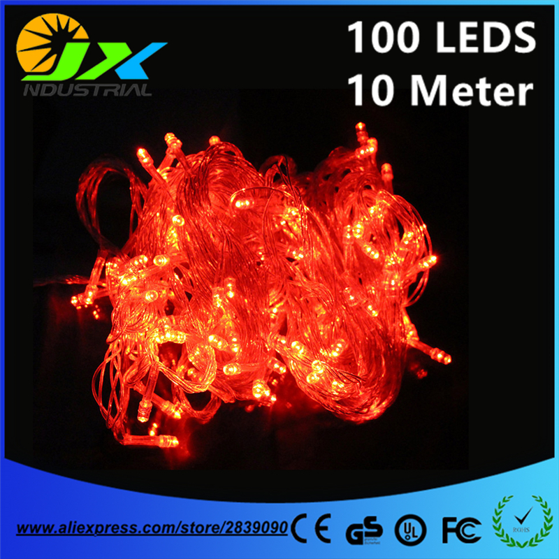 10 meters 100leds LED string Lights Christmas decoration Outdoor holiday party garden home wedding fairy light EU/US