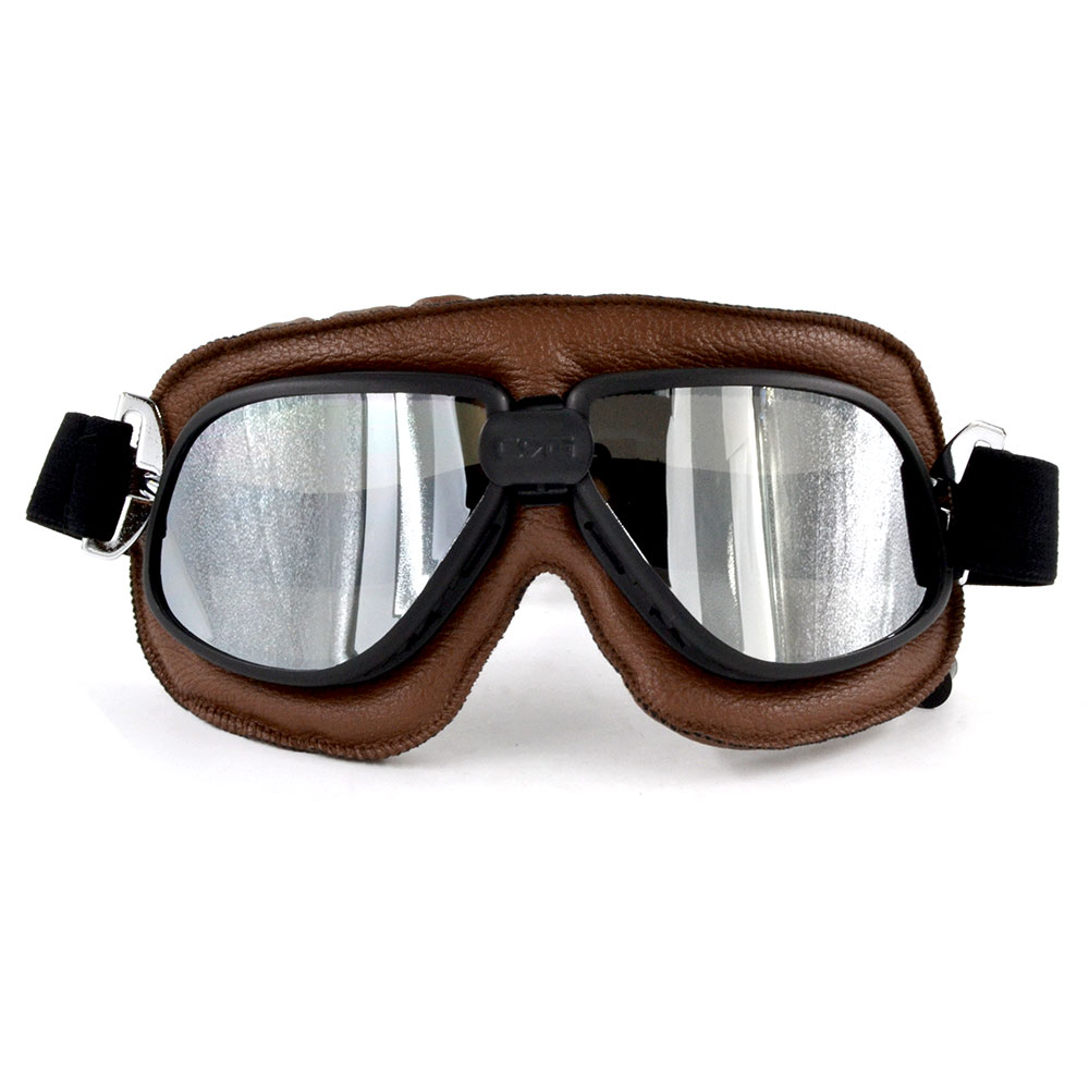 10PCS Motorcycle Cruiser Goggles Dirt Bikes Racing Glasses Eyewear Retro Aviator Pilot Glasses Helmet Driving Goggles in Motorcycle Glasses from Automobiles Motorcycles