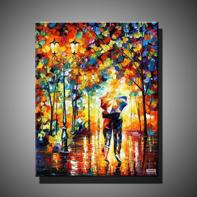Handmade oil painting on canvas modern 100 best art for Best brand of paint for kitchen cabinets with modern wall art cheap