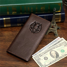 New Arrival Real Genuine Leather Mens Wallet Card Holder Cartera Purse wholesale # 8009-1C