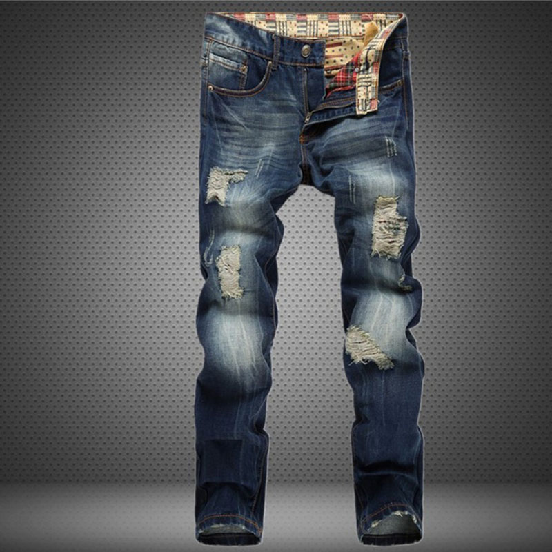brand clothing mens jeans homme fashion ripped jeans for men designer