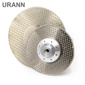 1pcs Electroplated diamond cutting grinding disc M14 flange Diameter 100mm~230mm saw blade for granite marble ceramic(China)