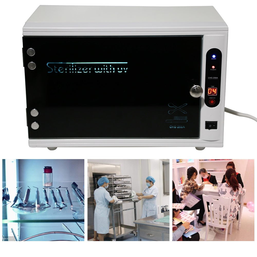 Gustala 220V UV Nail Disinfection Cabinet Manicure Tools Sterilizer Nail Electric Sterilizer Nail Tools Equipment Therapy цена