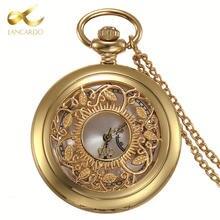 Часы lancardo с римскими цифрами золотые карманные часы полыми