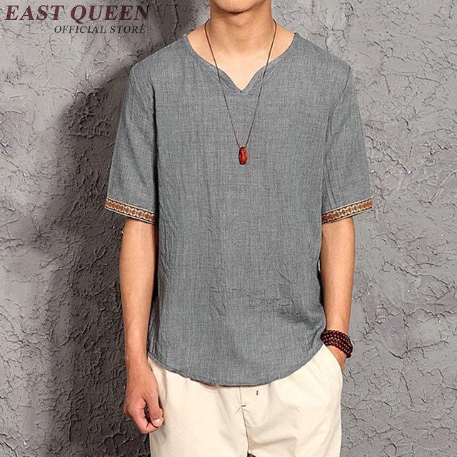 c3a4b29321 Hombre camisa de lino ropa de lino t camisas hombre marcas oriental ropa  para hombre chino