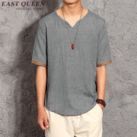Male linen shirt men clothing made of linen t shirts male top brands oriental mens clothing chinese top AA1122