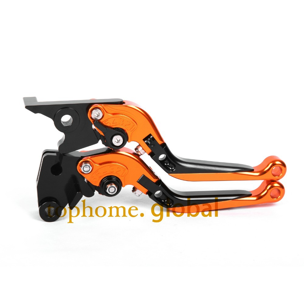 CNC Folding&Extending Brake Clutch Levers For Moto Guzzi Breva 850 1100 1200 2006-2009 Orange&Blac Motorcycle Accessories adjustable cnc aluminum clutch brake levers with regulators for moto guzzi breva 1100 2006 2012 1200 sport 07 08 09 10 11 12 13