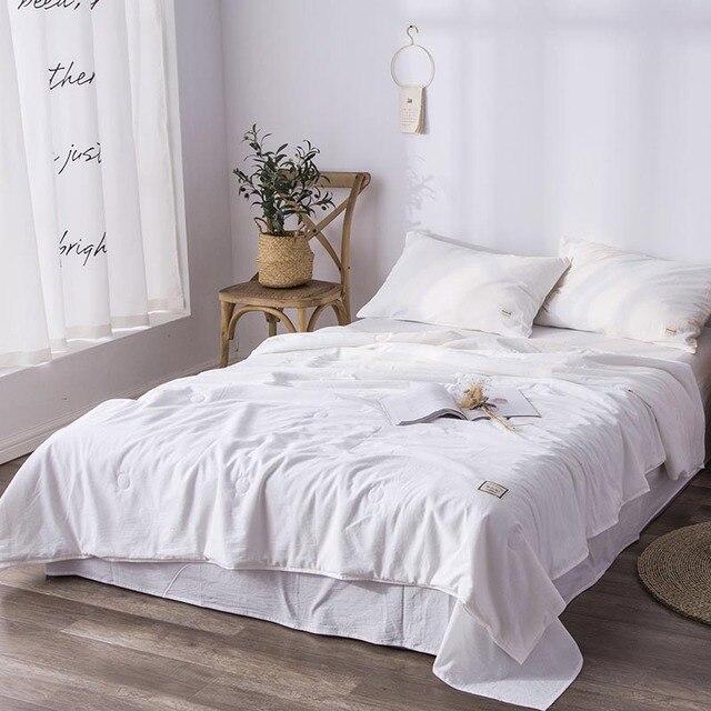 Colcha de cuatro estaciones venta de ropa de cama para adultos tamaño King Quilte blanco 220x240 cm edredones de algodón de verano de una pieza envío gratis