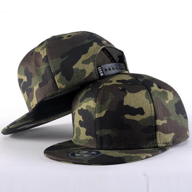 Prix pour Camouflage réglable coton casquette plate hommes femmes patchwork sports de plein air rue solide chapeau snapback gorras hip hop casquette de baseball