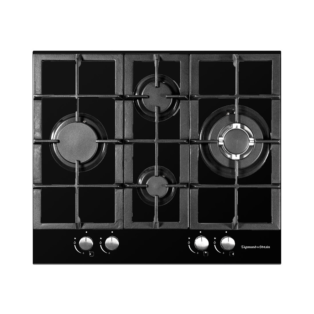 Bulit-in Gas Hobs Zigmund & Shtain MN 155.61 B Home Appliances Major Appliances Bulit-in Hobs 0-0-12 Cooking Unit Panel Surface