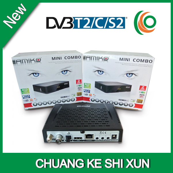 US $105 34 |set top box software update dvb decoder for encrypted channels  DVB S2=T2+C combo receiver-in Satellite TV Receiver from Consumer