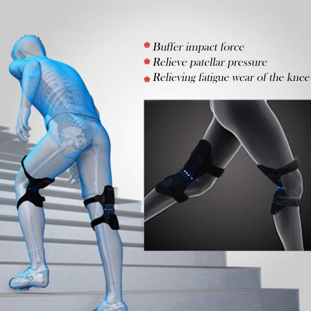 1 pcs Joint Support Knee Pad Breathable Non Slip Lift Pain Relief For Knee Power Spring Force Stabilizer Knee Booster For Elder in Elbow Knee Pads from Sports Entertainment