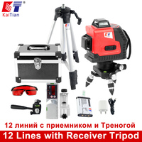 Kaitian Tripod For Laser Level 12 Lines Receiver Bracket Nivel Laser Horizontal Vertical 360 Degree Self