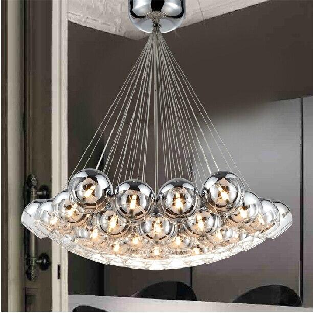 Pendant Lighting Glass Shades Led G4 Lobby Hotels Restaurant Italian Style Modern Hanging Lamps Ball  Luxury Pendant Light