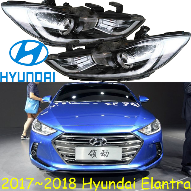 car-styling,Elantra headlight,MD,Avante,2012~2017Free ship!Elantra fog,LED,tucson,santa fe,ix45,ix35,Elantra head light,Veracrus