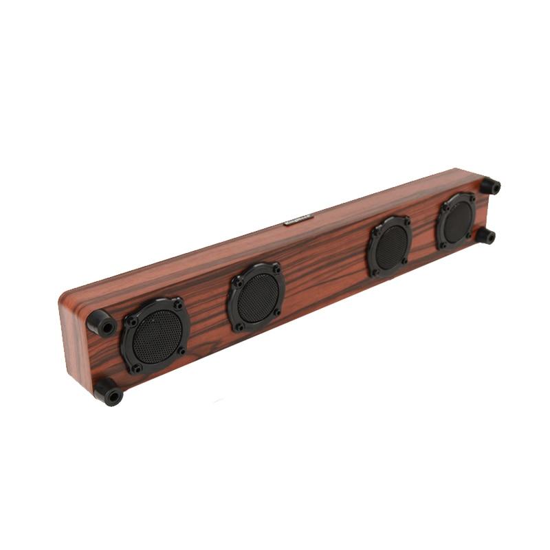 Wooden Bluetooth Speaker TV Soundbar Support Computer AUX in Wireless Speakers Sound Speaker Subwoofer for Desk цена 2017