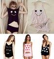 SE40 Duas Peças Sleepwear Camisa Topos das Mulheres Shorts Calças de Pijama conjunto de Lingerie Roupa de Dormir Colete & Purfle calças Modal Conjuntos de Casa roupas