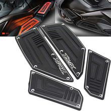 Footrest Pedal Motorcycle Front & Rear Motorbike Footboard Steps Foot Plate for Yamaha TMax530 T Max TMax 530 2012 2013 14 15 16 for yamaha nvx 155 aerox 155 movistar 2017 footrest pedal motorcycle cnc aluminum alloy front rear footboard steps foot plate