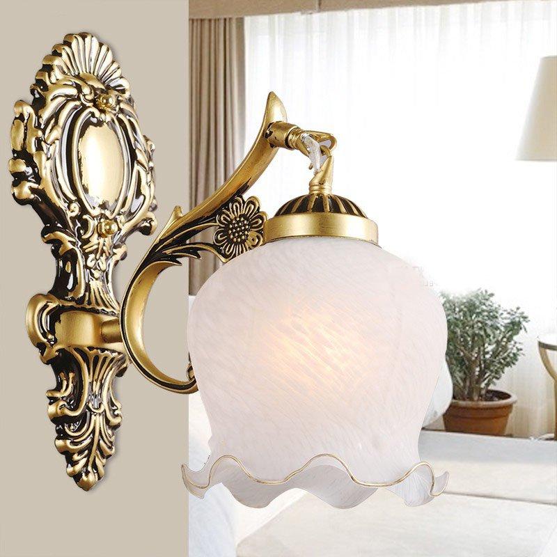 Vintage Kostenloser Versand Schlafzimmer Schnee Glas Wandleuchte Traditinal Europa Kirsite Flur galerie Badezimmer wandleuchte Vertraglich Lampe - 3