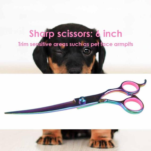 Pet Dogs Hair Scissors Puppy Cat Grooming Hairdressing Cutting Beauty Tools Pet Dog Cat Scissors Kits Hair Trimmer Products 4