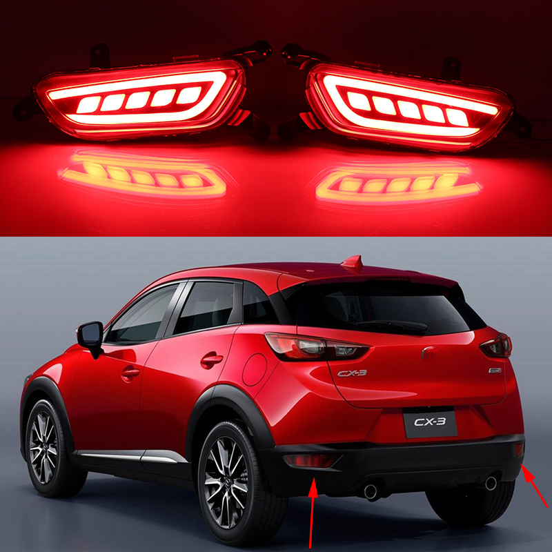 car styling for mazda cx 3 cx3 cx 3 2016 2017 car led rear fog lamp bumper light auto brake. Black Bedroom Furniture Sets. Home Design Ideas