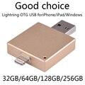 Гарантия 1 Год Новый 64 ГБ Телефон OTG Usb Flash Drive Для Iphone 6/5 Ipad/Ipod, молния OTG 128 ГБ 16 ГБ 32 ГБ Pen Drive 512 ГБ Подарок