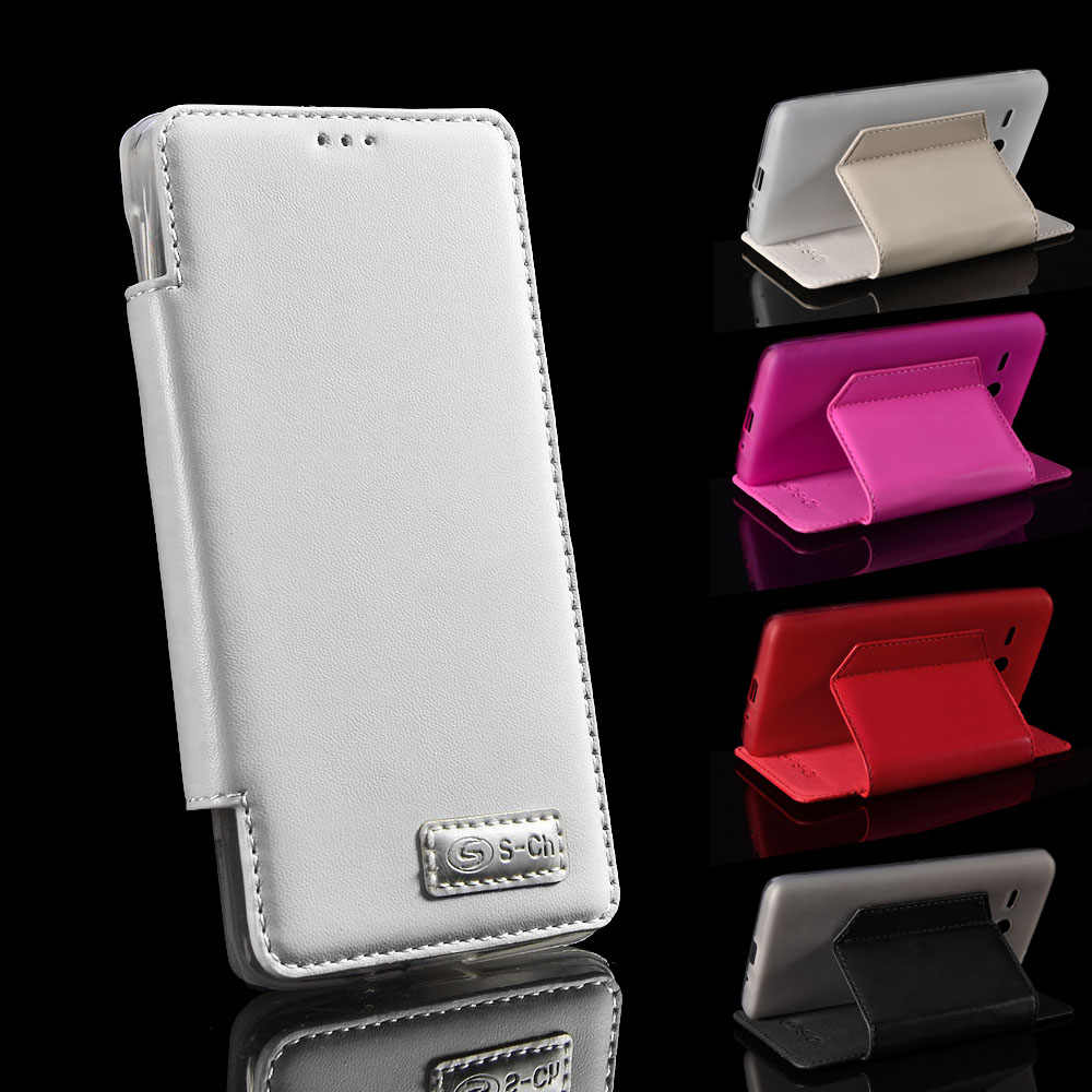 For Huawei Ascend Y530 S-CH PU Leather Flip Cover TPU Phone Case with Card Slots made by Soft Material Free shipping