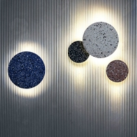 Postmodern minimalist American designer glass round wall lamp personality living room bedroom corridor brass wall lamp