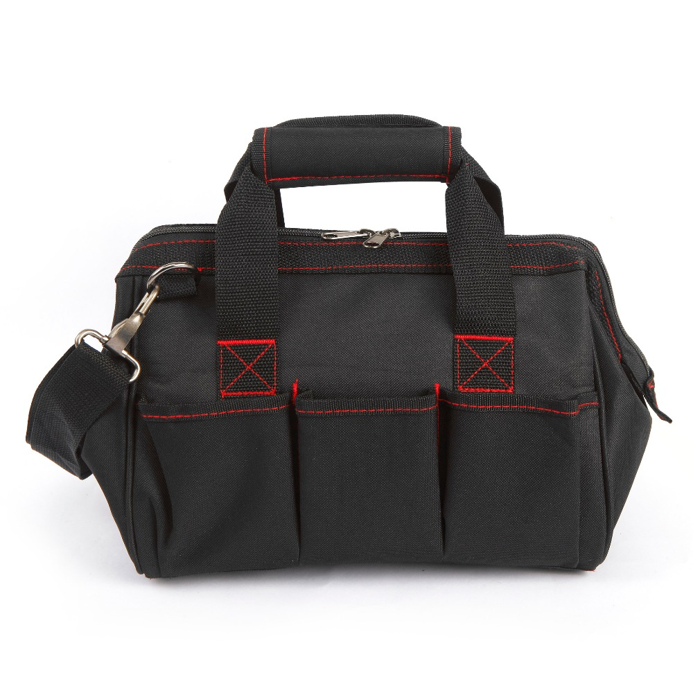WORKPROツールバッグ600D Close Top Wide Mouth Electrician Bags S - 工具の収納に役立つアイテム - 写真 3