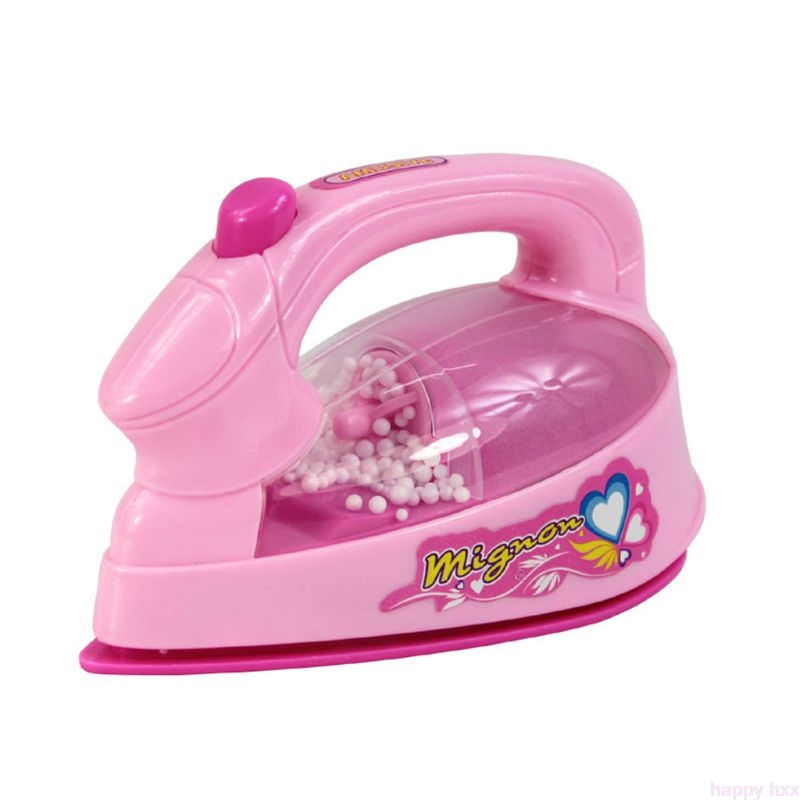 HBB Children Kid Boy Girl Mini Kitchen Electrical Appliance Electric Iron Toy Set Dummy Household Pretended Play Gift