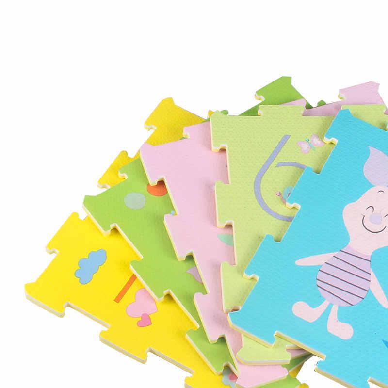 Disney Винни тачки 3 милые обучающие мягкие EVA напольные головоломки для ползания и игр коврики детские игрушки для мальчиков малышей подарки 9 шт 1 см толщиной