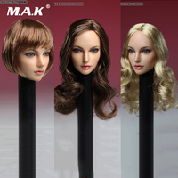 1/6 European Beauty Beauty Female Figure Head Sculpt SDH005 Cool Lady Head Carving Model Golden/Brown Hair Collections