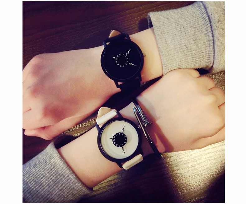 Fashion Style Watch for Men and Women White & Black
