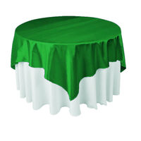 Hot Sale 120ich 10pcs Satin Restaurant Decoration Table Cloth For Weddings Parties Hotels Restaurant Free
