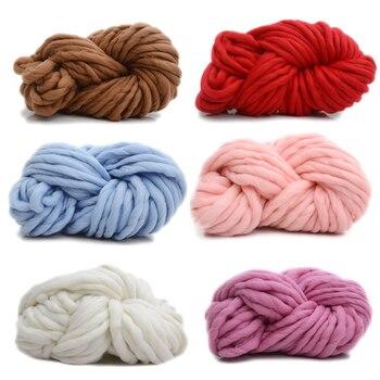 250g Super tejer manta de hilo grueso suave brazo Merino Hilados de lana  DIY hilo de ganchillo de punto mantas sombrero de la bufanda 5cf2f836dc5
