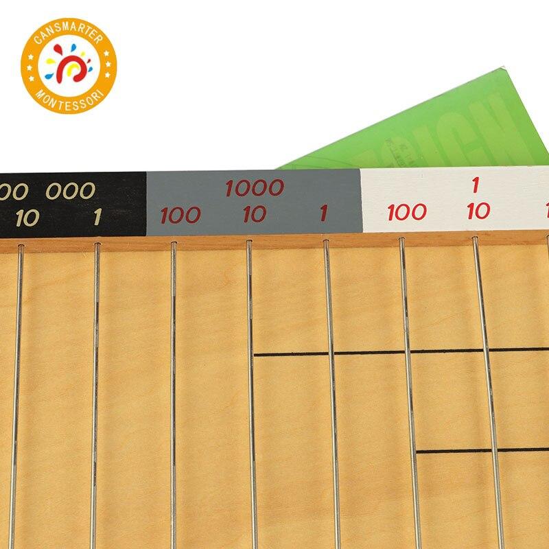 Montessori plat perle cadre mathématiques jouets petite enfance éducation préscolaire formation apprentissage jouets - 5