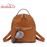 DOODOO 2019 NEW Han edition Women Backpack Simple Preppy Style Backpack Women Famous College Backpack Cat shaped backpack