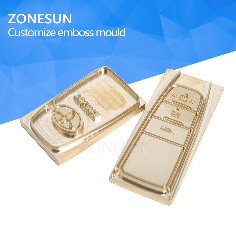ZONESUN Car key branding iron Brass copper stamping machine mold leather stamp mold die cut emboss mold leather bronzing die cut custom seal stamp logo leather mold die carving tool foil embossing brass copper stamping machine mold