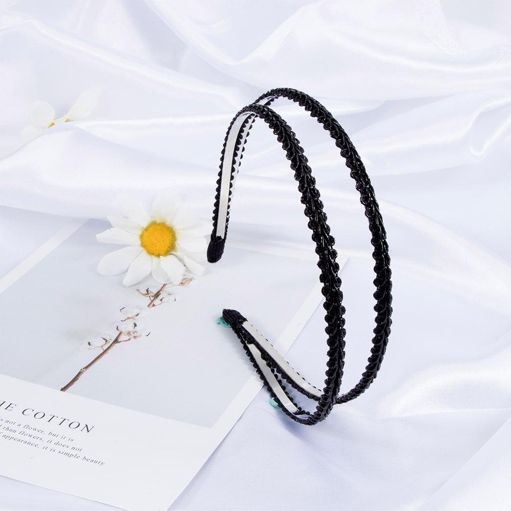 Bracelet en résine plastique Simple   1 pièce, Double couche, pour bandeau et tête, accessoires pour cheveux de femmes