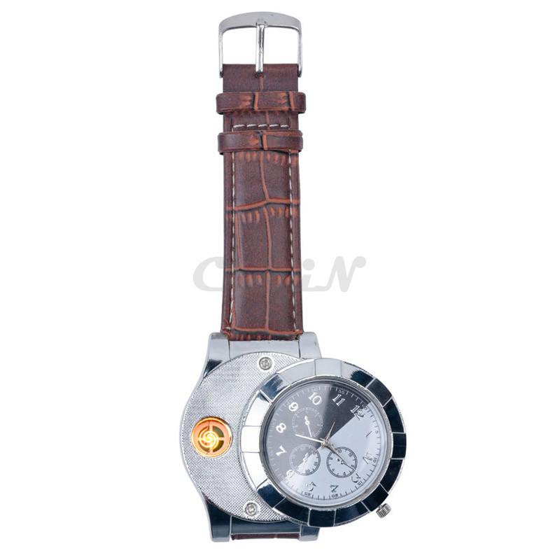 Fashion-Rechargeable-USB-Lighter-Watch-Electronic-Men-s-Casual-Quartz-Wristwatches-Windproof-Flameless-Cigarette-Lighter-WL4 (2)